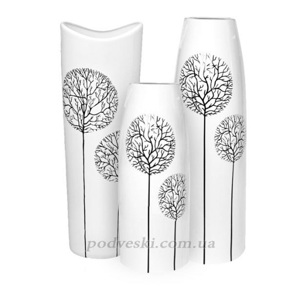 Набор керамические ваз Eterna «Tree White»