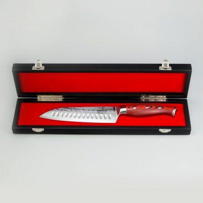 Нож сантоку с рифлением Sakura