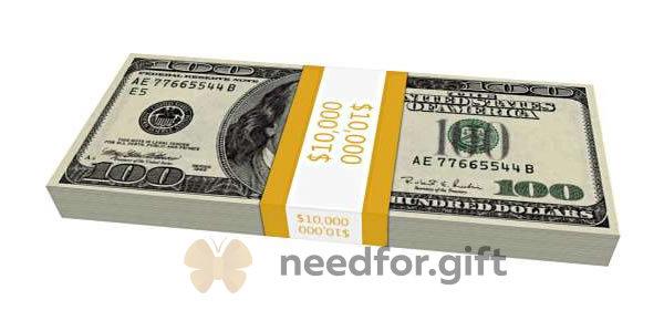 Пачка 10,000 долларов $
