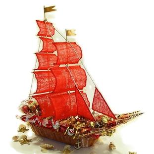 Букет из конфет «Алые паруса»
