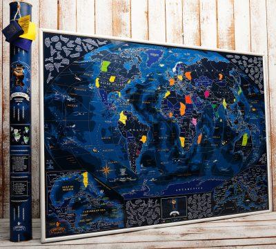 Морская скретчкарта мира My Map Discovery edition