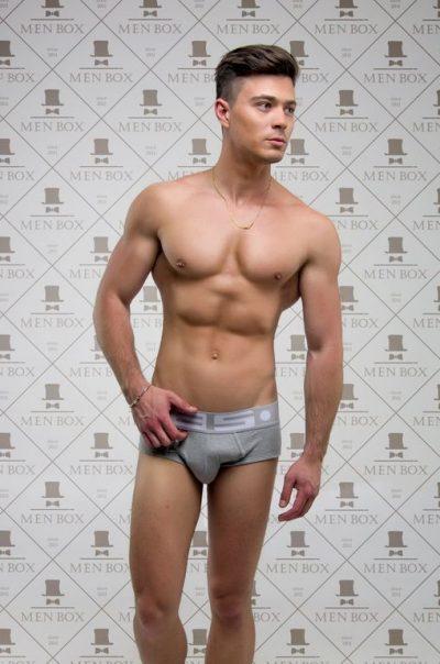 Мужские брифы ES Collection. Цвет: серый.