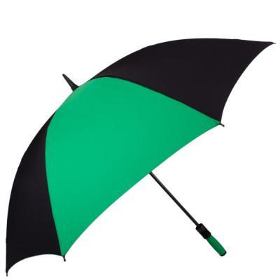Противоштормовой зонт-трость мужской механический с большим куполом FULTON (Black-Green)
