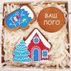 Корпоративный набор пряников - «Рождественский домик»