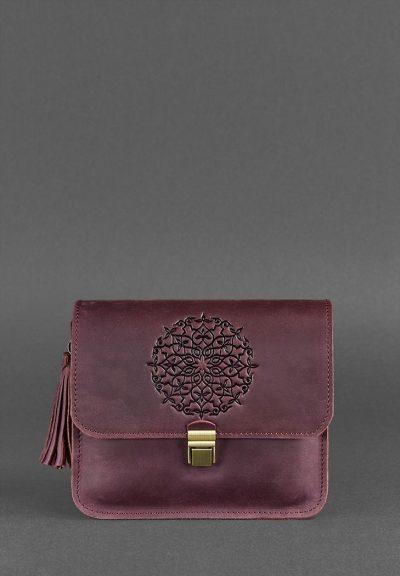 Кожаная сумка бохо «Лилу. Виноград» Blanknote (кожа Crazy Horse)