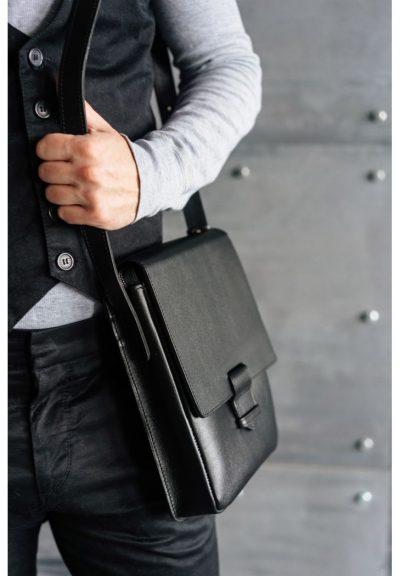 Кожаная сумка-мессенджер «Esquire» BlankNote (графит)