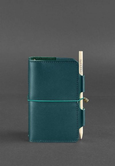 Кожаный блокнот (Софт-бук) «3.0 Малахит» Blanknote