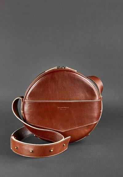 Круглая сумка-рюкзак maxi «Коньяк» BlankNote
