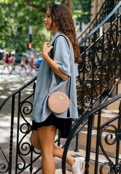 Круглая сумочка «Tablet» BlankNote (крем-брюле)