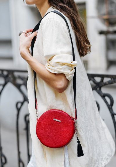Круглая сумочка «Tablet» BlankNote (рубин)