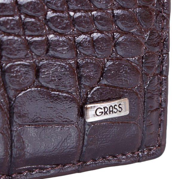 Зажим для купюр мужской кожаный GRASS