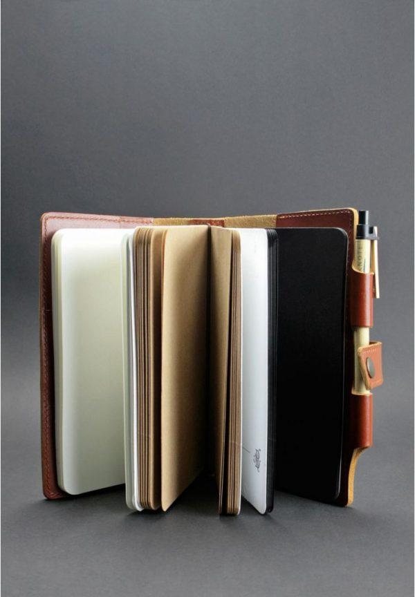 Кожаный блокнот (Софт-бук) «4.0 Коньяк» Blanknote