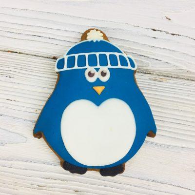 Пряник ручной работы - «Пингвин»