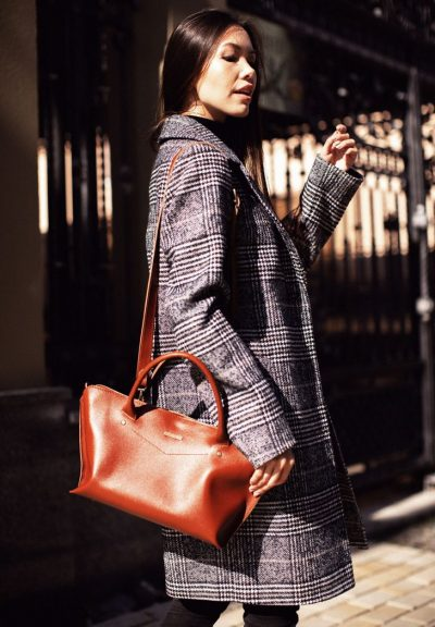 Женская сумка «Midi Коньяк» Blanknote