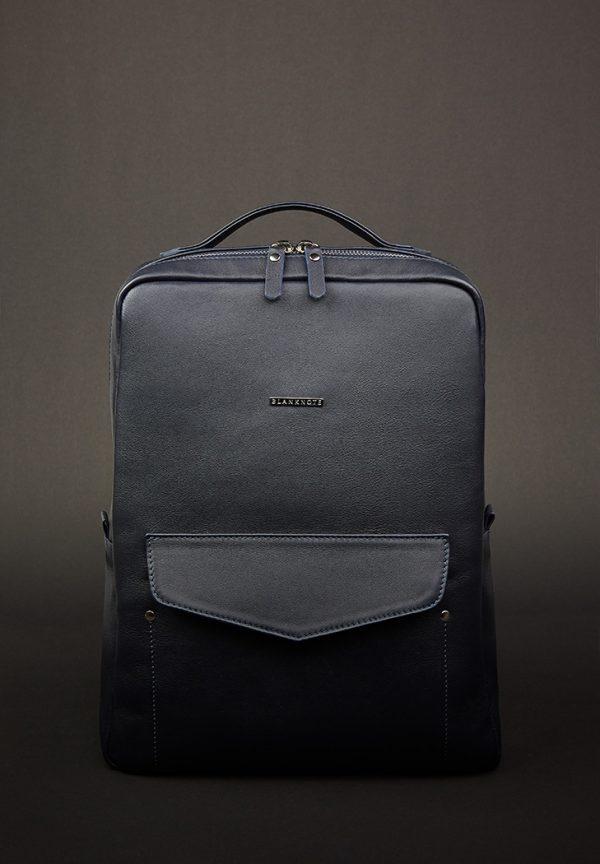 Кожаный городской рюкзак на молнии «Cooper» BlankNote (мистик)