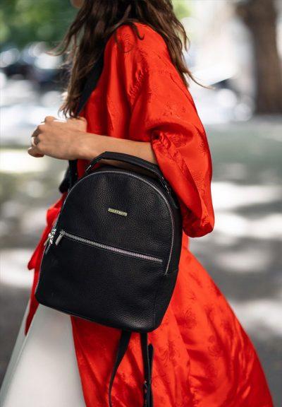 Кожаный мини-рюкзак «Kylie» BlankNote (оникс)