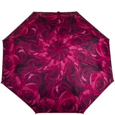 Зонт женский компактный автомат FULTON (Rose-Red)