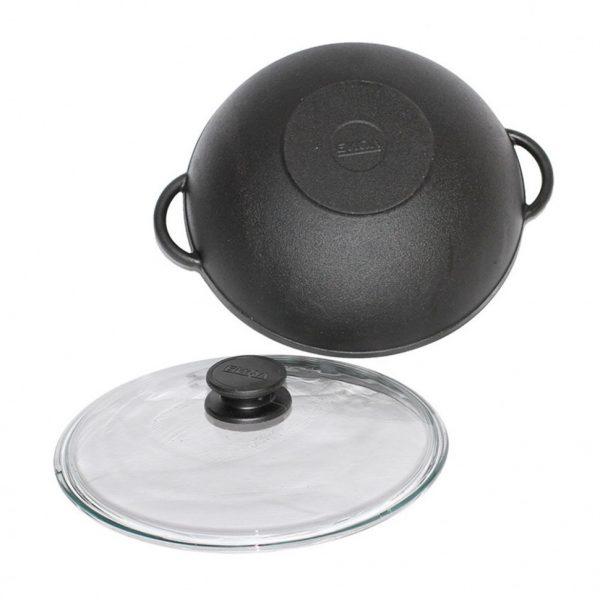 Сковорода-вок чугунная «Биол»