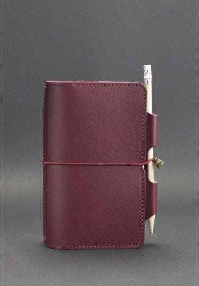 Кожаный блокнот (Софт-бук) «3.0 Виноград» BlankNote