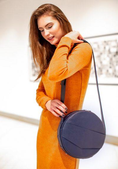 Круглая сумка-рюкзак «Maxi» BlankNote (темно-синий)