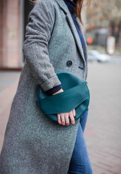 Круглая сумка-рюкзак «Maxi» BlankNote (малахит)