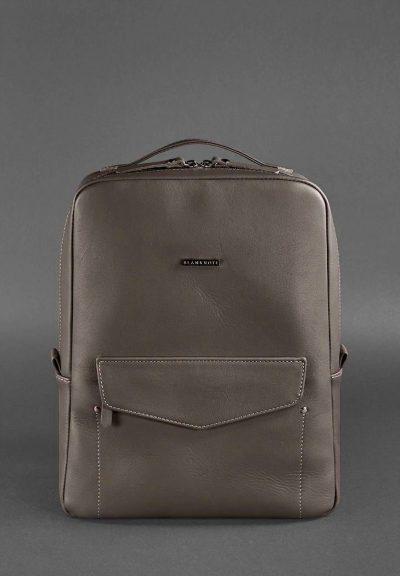 Кожаный городской рюкзак на молнии «Cooper» BlankNote (Мокко)