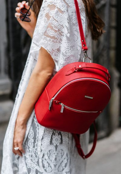 Кожаный мини-рюкзак «Kylie» BlankNote (рубин)