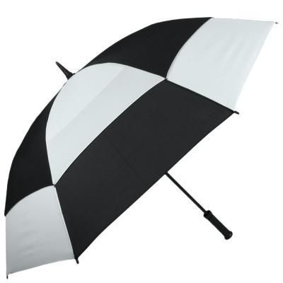 Зонт-трость противоштормовой мужской механический FULTON (Black-White)