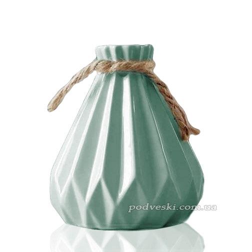 Керамическая мини-ваза Eterna из коллекции «Алхимия» (бирюза)