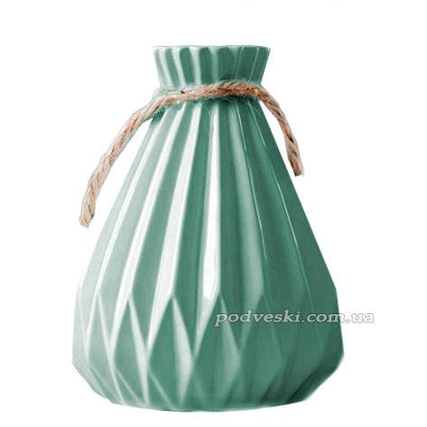 Керамическая ваза Eterna коллекция «Алхимия» (бирюза)