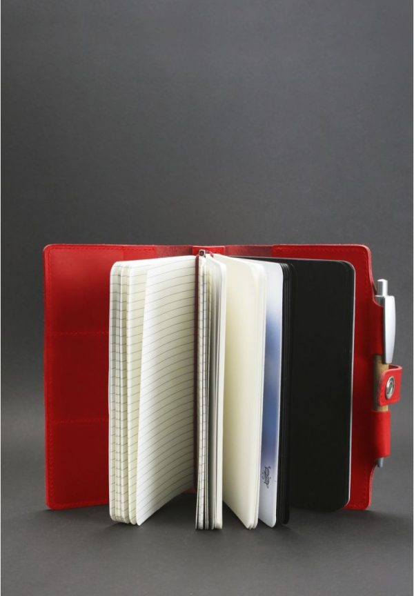Кожаный блокнот (Софт-бук) «4.0 Коралл» BlankNote