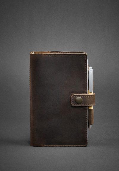 Кожаный блокнот (Софт-бук) «4.0 Орех» BlankNote