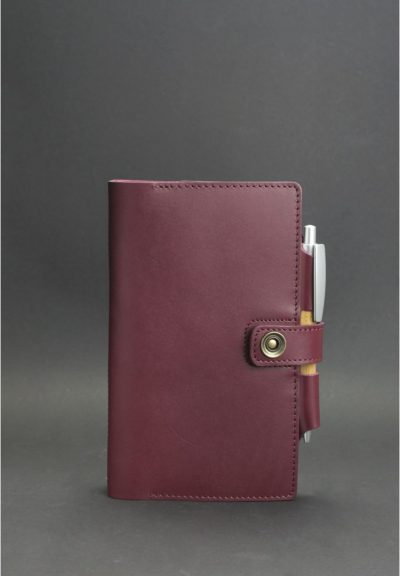 Кожаный блокнот (Софт-бук) «4.0 Виноград» BlankNote