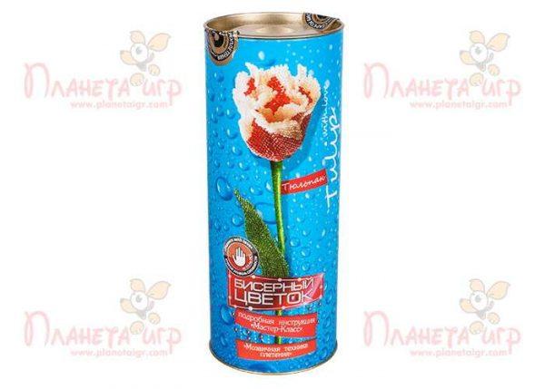 Набор для творчества «Бисерный цветок. Тюльпан»