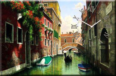 Настенные часы часы на холсте «Венеция»
