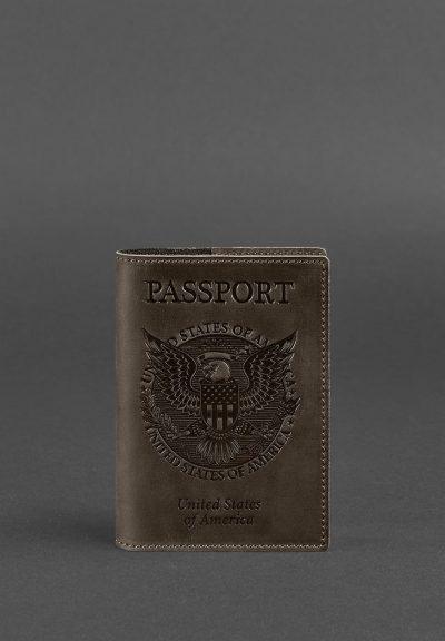 Обложка для паспорта с американским гербом BlankNote (Орех)
