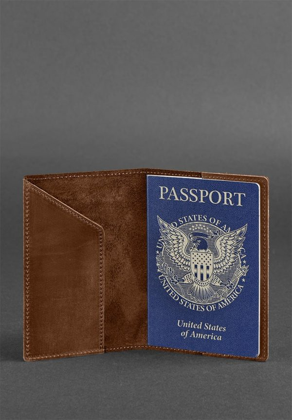 Обложка для паспорта с американским гербом BlankNote (коньяк)