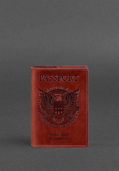 Обложка для паспорта с американским гербом BlankNote (коралл)