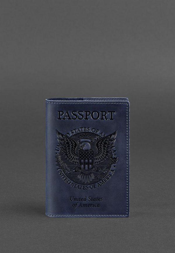 Обложка для паспорта с американским гербом BlankNote (ночное небо)