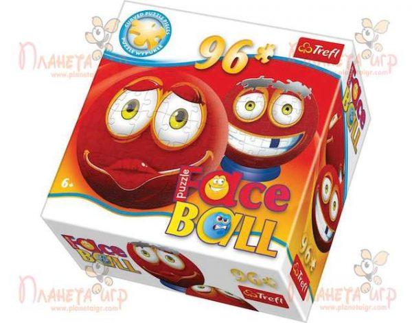 Пазл 3D шар Faceball красный (96 эл.)