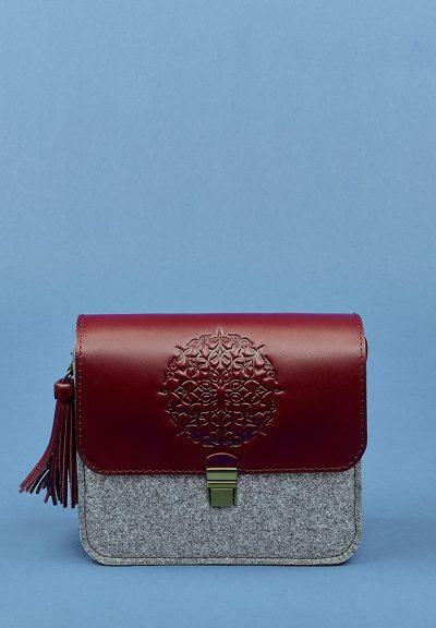 Бохо-сумка «Лилу» BlankNote (фетр+кожа виноград)