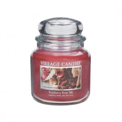 Свеча ароматическая Village Candle «Малиново-розовый чай»