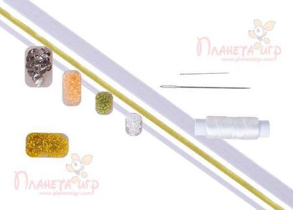 Вышивка лентами и бисером «Ромашки»
