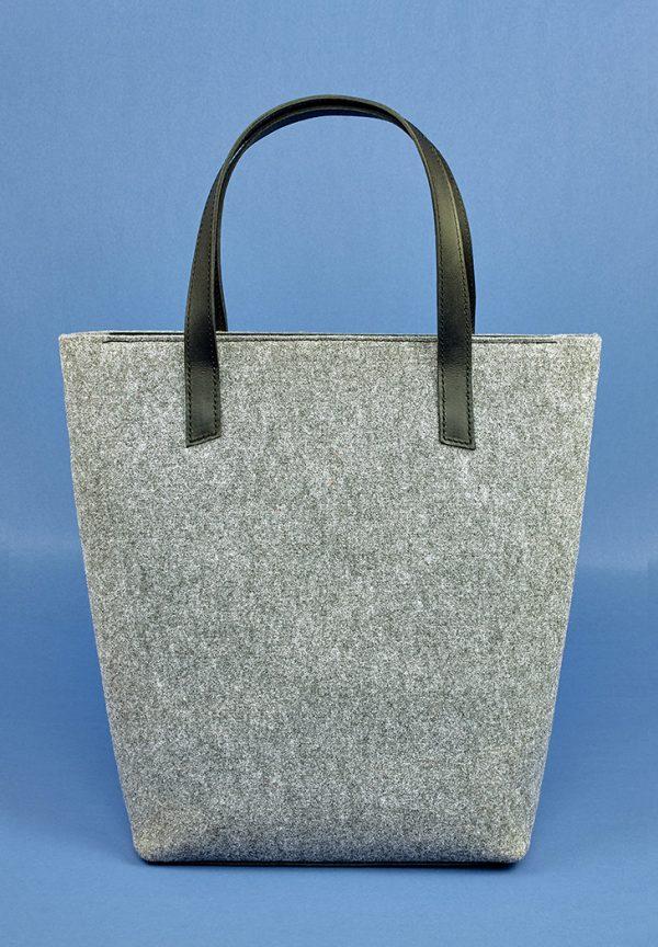 Женская сумка-шоппер «D.D.» BlankNote (фетр + кожа графит)