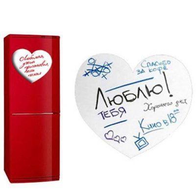 Магнитная доска на холодильник маркерная Сердце