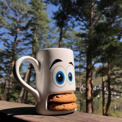 Чашка с отделением для печенья Donkey «Monster Cookie Cup» (белая)