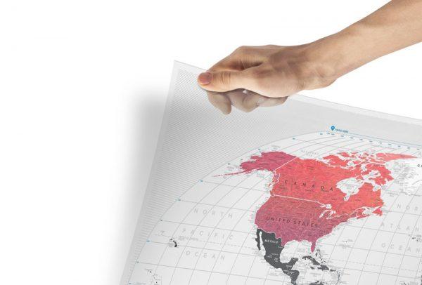 Скретч-карта мира Travel Map Air World