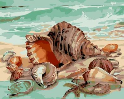 Раскраска по номерам «Дары моря»