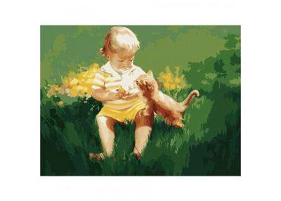 Раскраска по номерам «Два малыша»