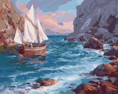 Раскраска по номерам «У берега»